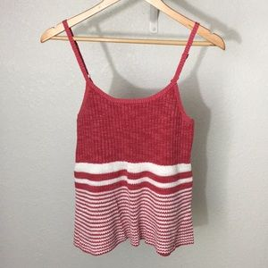 Anthropologie Moth ribbed tank in red size m